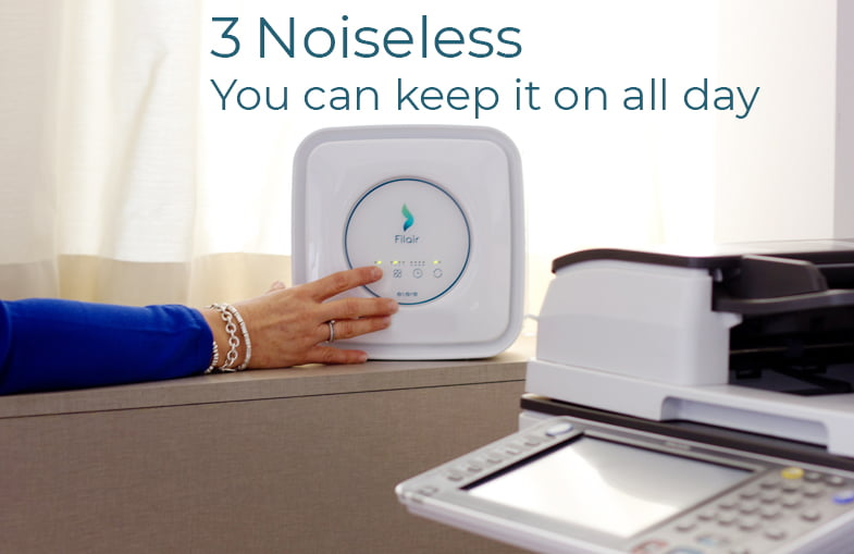 The most noiseless Air Purifier for its power